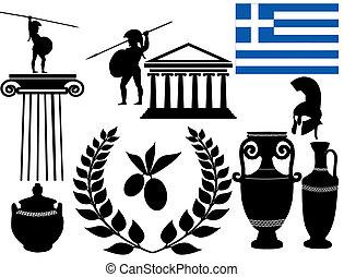 traditionele , symbolen, griekenland