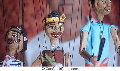 traditionele , thai, marionet, touwtje