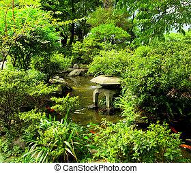traditionele , tuin, chinees