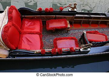 traditionele , venetie, details, gondola