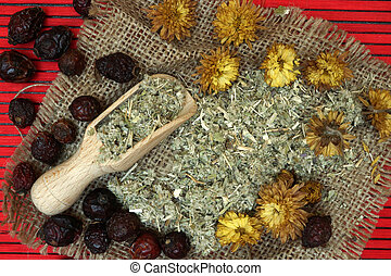 traditionell, herbal, medicine.