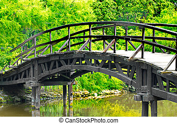 traditionell, japansk, bro