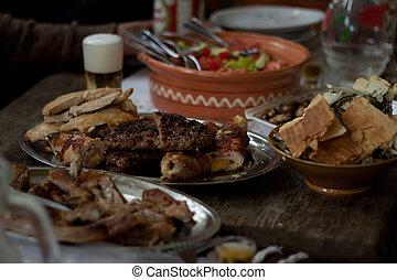 traditionell, macedonier, mat
