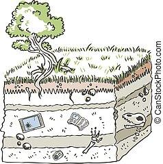 traditionell, media, arkeologi