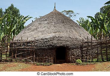 traditionelle , afrikanisch, hütte
