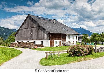 traditionelle , bauernhaus, alpin