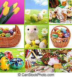traditionelle , collage, themed, -, ostern