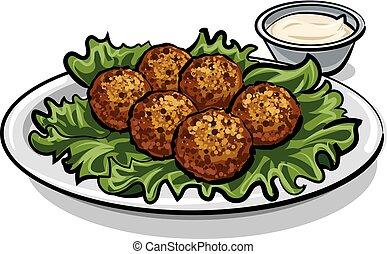 Falafel Illustrationen und Clip Art. 242 Falafel ... Falafel Clipart