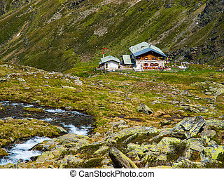 traditionelle , hütte, alpin