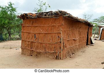 traditionelle , haus, masai