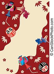 traditionelle , japanisches , karte