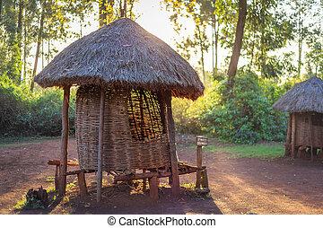 traditionelle , kornkammer, kenianer, leute