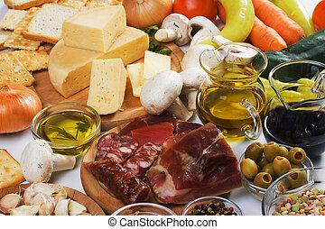 traditionelle, mad, ingredienser