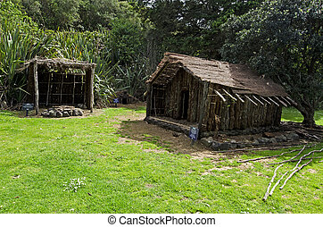 traditionelle , maori, dorf