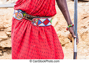traditionelle , masai, kostüm