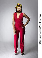 traditionelle , mode, kleidung, modern, afrikanisch
