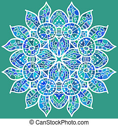 traditionelle, motif, orientalsk, ornamentere