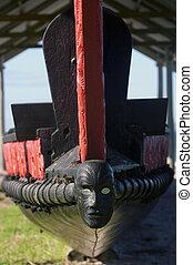 traditionelle , neuseeland, maori, waka