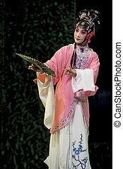 traditionelle , oper, hübsch, chinesisches , schauspielerin