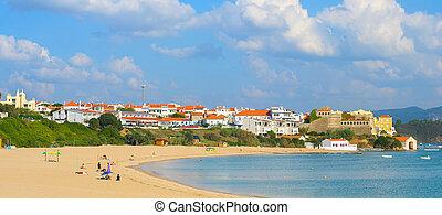 traditionelle , panorama, dorf, portugal