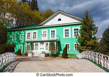 Traditionelle , Russische, Hölzernes Haus