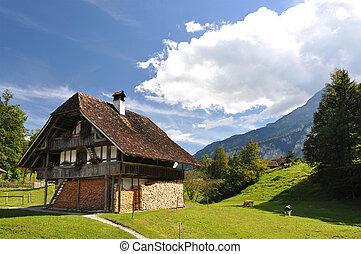 traditionelle , schweizerisch, landhaus
