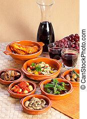 traditionelle , spanischer , tapas.