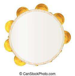 traditionelle, tamburin