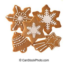 traditionelle , weihnachten, süsse nahrung, lebkuchen-...