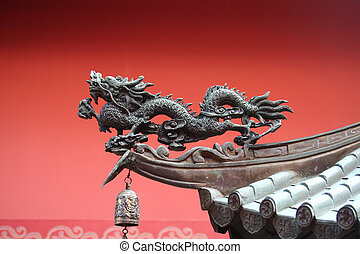 traditionnel, asiatique, dragon