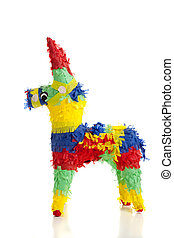 traditionnel, blanc, mexicain, pinata