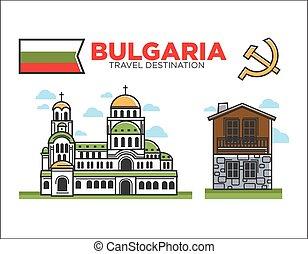 traditionnel, bulgare, architecture