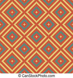 traditionnel, carrée, art, modèle, cadre, seamless, croix, textile, sud-est, aborigène, retro, fond, coin, ligne, chèque, rond, asiatique