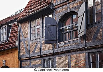 traditionnel, copenhague, architecture