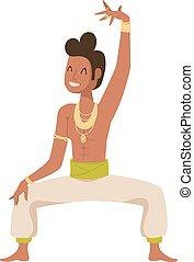traditionnel, culture., fête, indien, bollywood, danseur