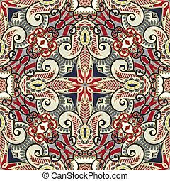 traditionnel, décoratif, paisley, floral, foulard