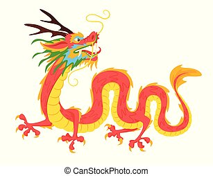 traditionnel, dragon chinois