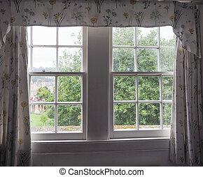 traditionnel, fenêtre, britannique