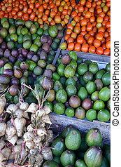 traditionnel, fruit frais, marché