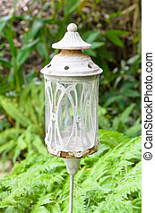 traditionnel, lampe, gar, anglaise