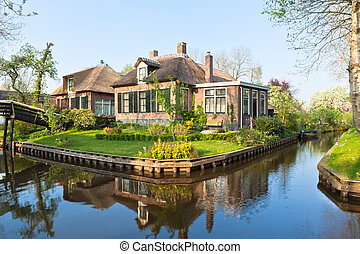 traditionnel, maison, Hollandais