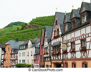 traditionnel, maisons, allemagne