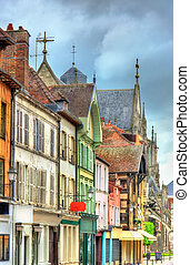 traditionnel, maisons, france, troyes