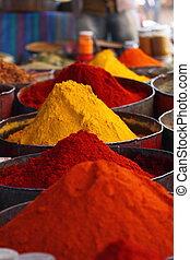 traditionnel, maroc, marché