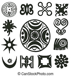 traditionnel, motifs, africaine