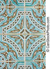 traditionnel, portugais, carreau, azulejo