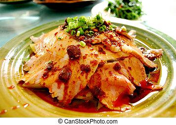traditionnel, sichuan, por, nourriture, cuit