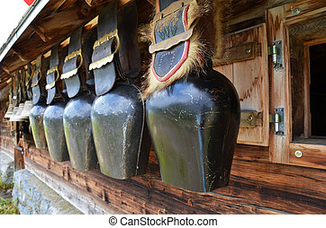 traditionnel, suisse, cowbells