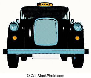 traditionnel, taxi, anglaise, /, taxi