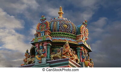 traditionnel, temple hindou, inde
